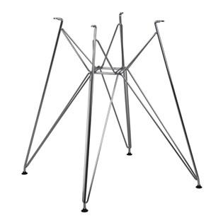 Base da Mesa Eiffel - Metal Cromado - 90cm a 120cm