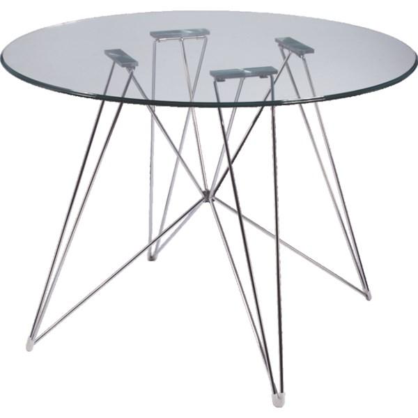 Base para Mesa de Jantar NEW Eiffel 120cm - Aço Cromado