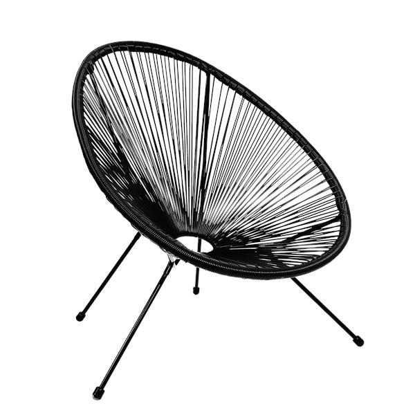 Cadeira Acapulco - Cor Preta