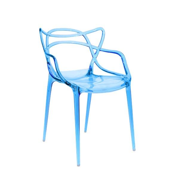 Cadeira Allegra em Policarbonato - Cor Azul Translucida