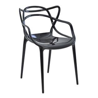Cadeira Allegra em Policarbonato - Cor Preta com Brilho