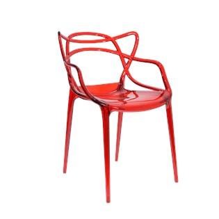 Cadeira Allegra em Policarbonato - Cor Vermelha