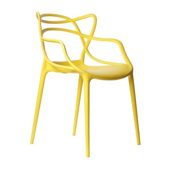 Cadeira Allegra em Polipropileno - Cor Amarela
