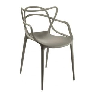 Cadeira Allegra em Polipropileno - Cor Cinza Quente