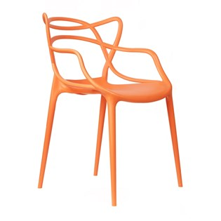 Cadeira Allegra em Polipropileno - Cor Laranja