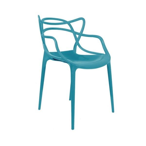 Cadeira Allegra em Polipropileno - Cor Turquesa