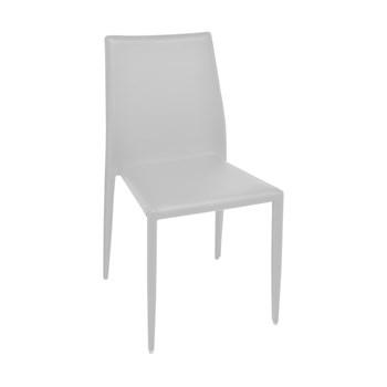 Cadeira Amanda Revestida em Couro Ecológico - Cor Branca
