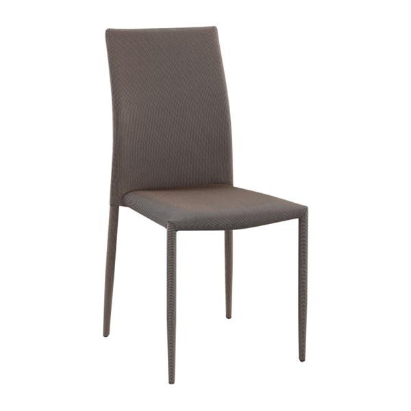 Cadeira Amanda Revestida em Tecido - Cor Dourado com Preto