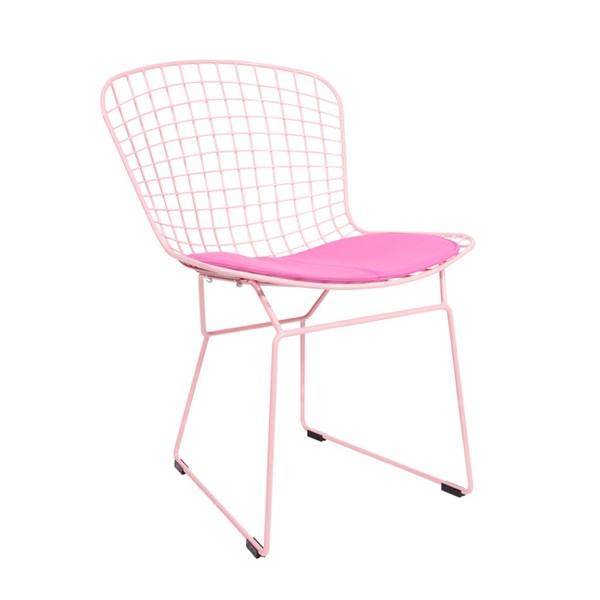 Cadeira Bertoia - Cor Rosa