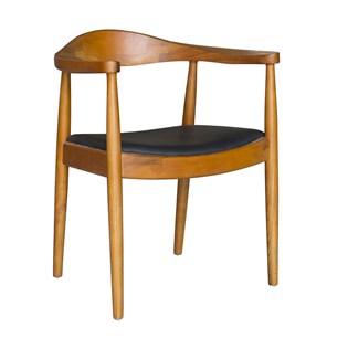 Cadeira Carolina Com Braços - Madeira Avermelhada