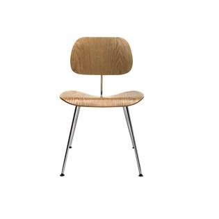 Cadeira DCM - Base Inox - Madeira Carvalho
