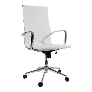 Cadeira De Escritório Presidente Charles Eames Esteira Alta - Cor Branca