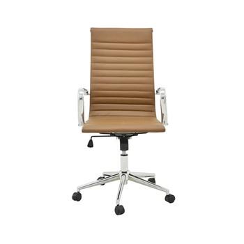 Cadeira De Escritório Presidente Charles Eames Esteira Alta - Cor Marrom