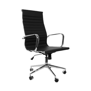Cadeira De Escritório Presidente Charles Eames Esteira Alta - Cor Preta