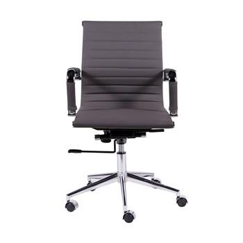 Cadeira De Escritório Presidente Charles Eames Esteira Baixa - Cor Cinza