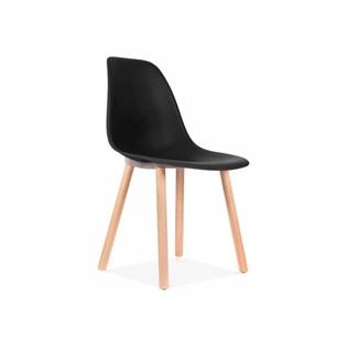 Cadeira Eames Eiffel Sem Braços Com Base Hal - Assento em Polipropileno - Cor Preta