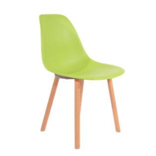 Cadeira Eames Eiffel Sem Braços Com Base Hal - Assento em Polipropileno - Cor Verde Claro