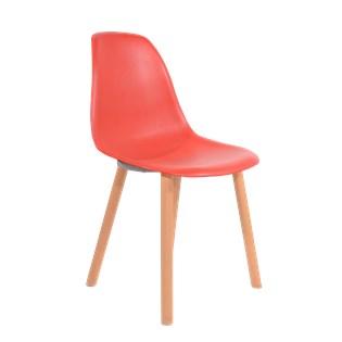Cadeira Eames Eiffel Sem Braços Com Base Hal - Assento em Polipropileno - Cor Vermelho