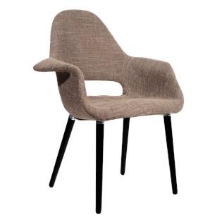 Cadeira Eames Organic - Base em Madeira - Cor Castanha