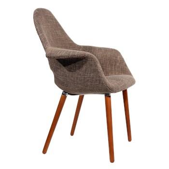 Cadeira Eames Organic - Base Preta - Cor Castanha