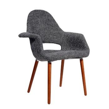 Cadeira Eames Organic - Cinza Escuro