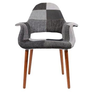 Cadeira Eames Organic - Patchwork Preto & Branco