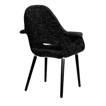 Cadeira Eames Organic - Base Preta - Cor Preta