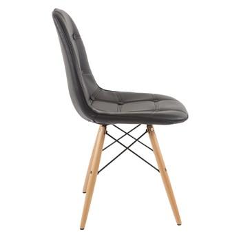 Cadeira Eiffel Sem Braços - Base Preta - Assento em Botonê Preta