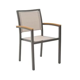 Cadeira Externa Maragogi - Cor Marrom com tela Bege