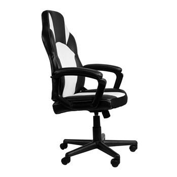 Cadeira Gamer One - Cor Preta E Branca