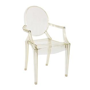 Cadeira Ghost com Braços em Policarbonato  - Cor Amarela Clara