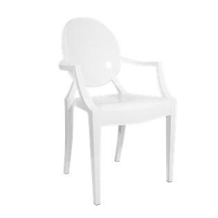 Cadeira Ghost com Braços em Policarbonato  - Cor Branca