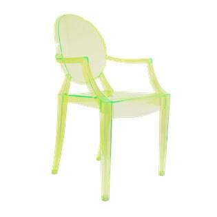 Cadeira Ghost com Braços em Policarbonato - Cor Verde