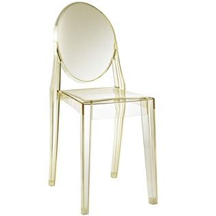 Cadeira Ghost Sem Braços em Policarbonato - Cor Amarela
