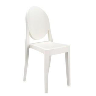 Cadeira Ghost Sem Braços em Policarbonato - Cor Branca