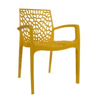 Cadeira Gruvyer com Braços - Cor Amarela