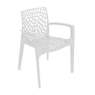 Cadeira Gruvyer com Braços - Cor Branca