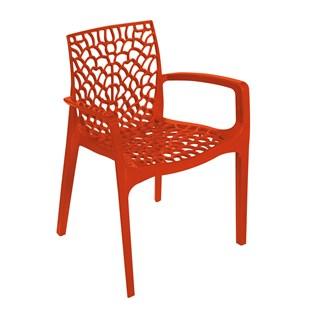 Cadeira Gruvyer com Braços - Cor Laranja
