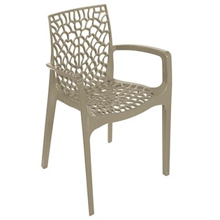 Cadeira Gruvyer com Braços - Cor Nude