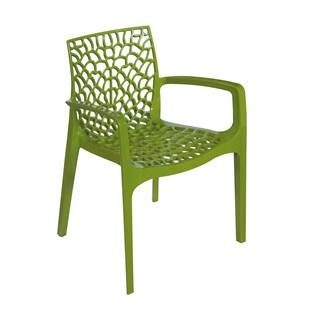 Cadeira Gruvyer com Braços - Cor Verde