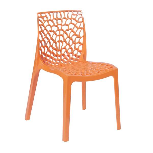 Cadeira Gruvyer - Cor Laranja