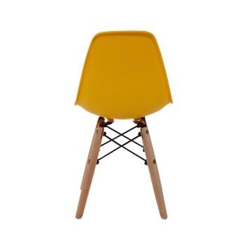Cadeira Infantil Eiffel sem Braços Kids - Base Madeira - Cor Amarela