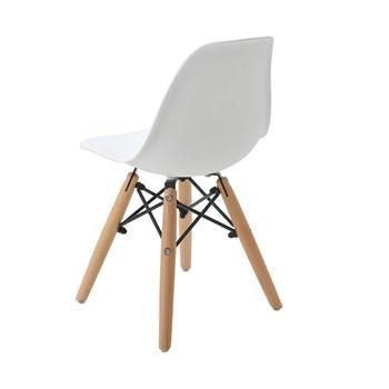 Cadeira Infantil Eiffel sem Braços Kids - Base Madeira - Cor Branca