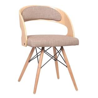 Cadeira Isabel Revestida em Linho - Cor Caqui