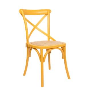 Cadeira Katrina Desgastada - Cor Amarela