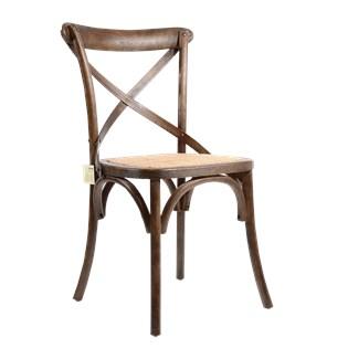 Cadeira Katrina Desgastada - Cor Carvalho Envelhecido