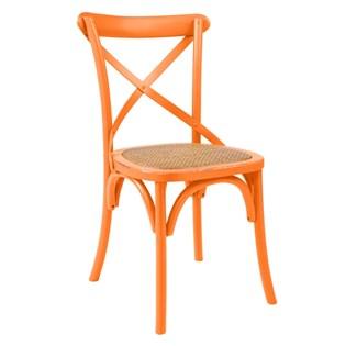 Cadeira Katrina Desgastada - Cor Laranja