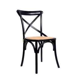 Cadeira Katrina Desgastada - Cor Preta