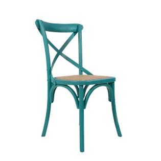 Cadeira Katrina Desgastada - Cor Turquesa
