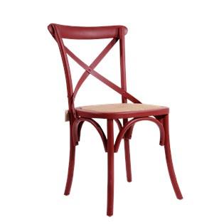 Cadeira Katrina Desgastada - Cor Vermelha